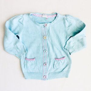 H&M Light Teal Princess Shoulder Cardigan